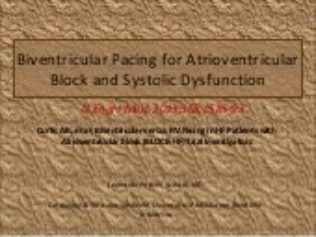 biventricular pacing for atrioventricular block and - 170×128