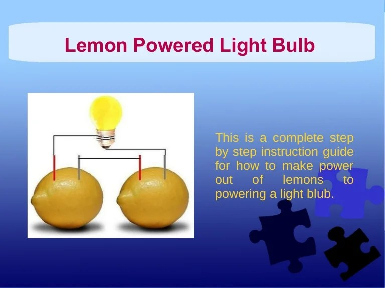 Battery Light Bulb Science Project