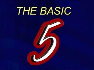 Basic 5 Presentation