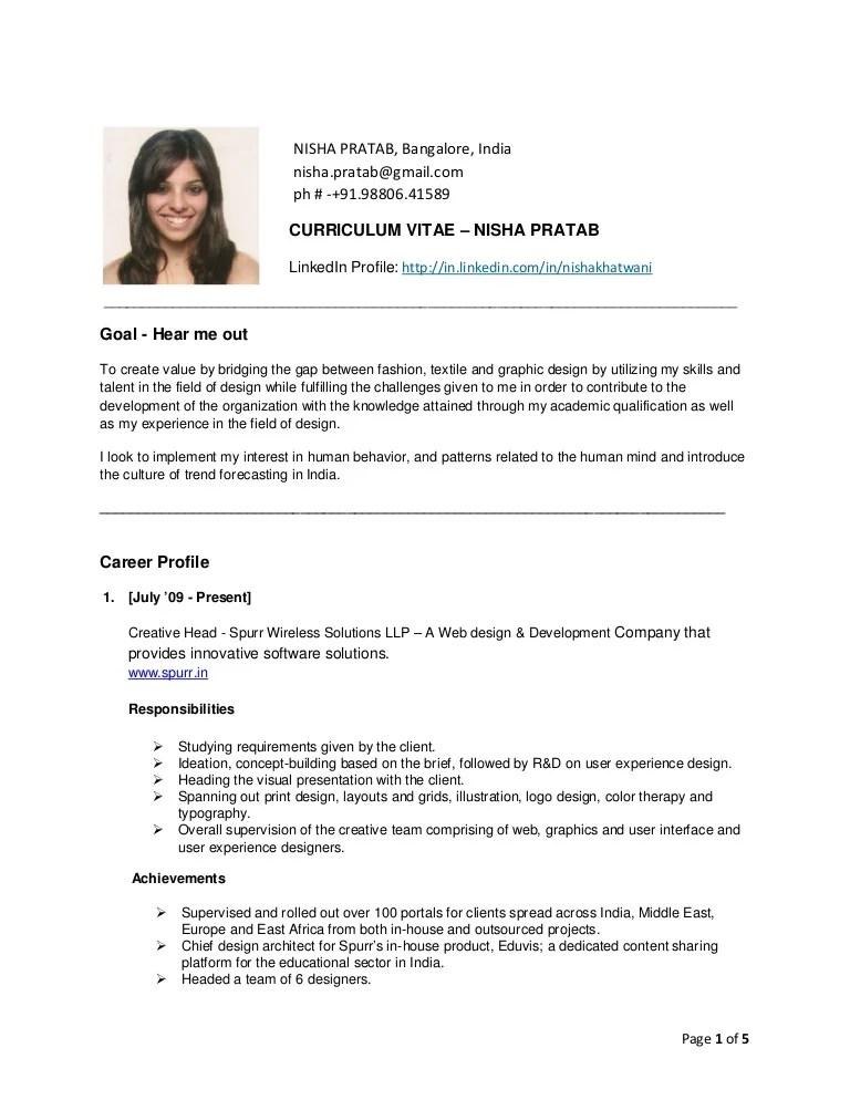 Nisha Pratab Resume