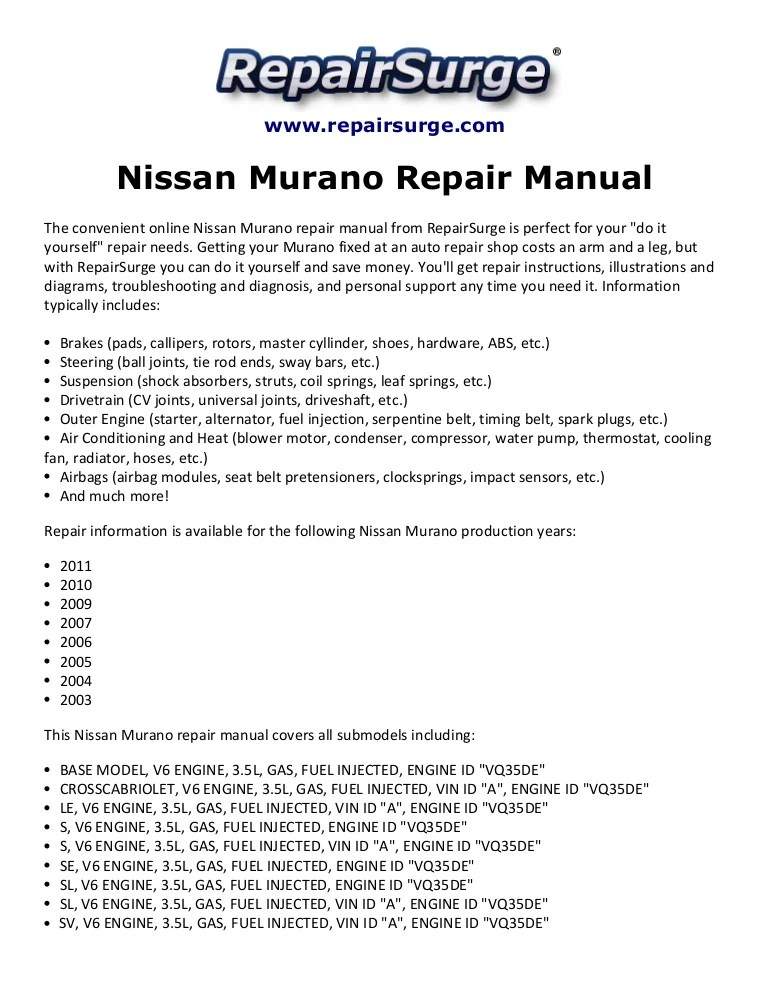 nissanmuranorepairmanual2003 2011 141110205718 conversion gate02 thumbnail 4?resize=665%2C861&ssl=1 2006 nissan murano wiring diagram wiring diagram  at virtualis.co