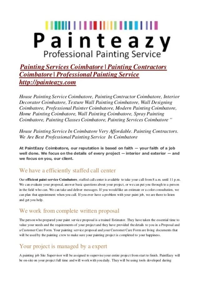 Painting Proposal - FREE DOWNLOAD - Printable Templates Lab