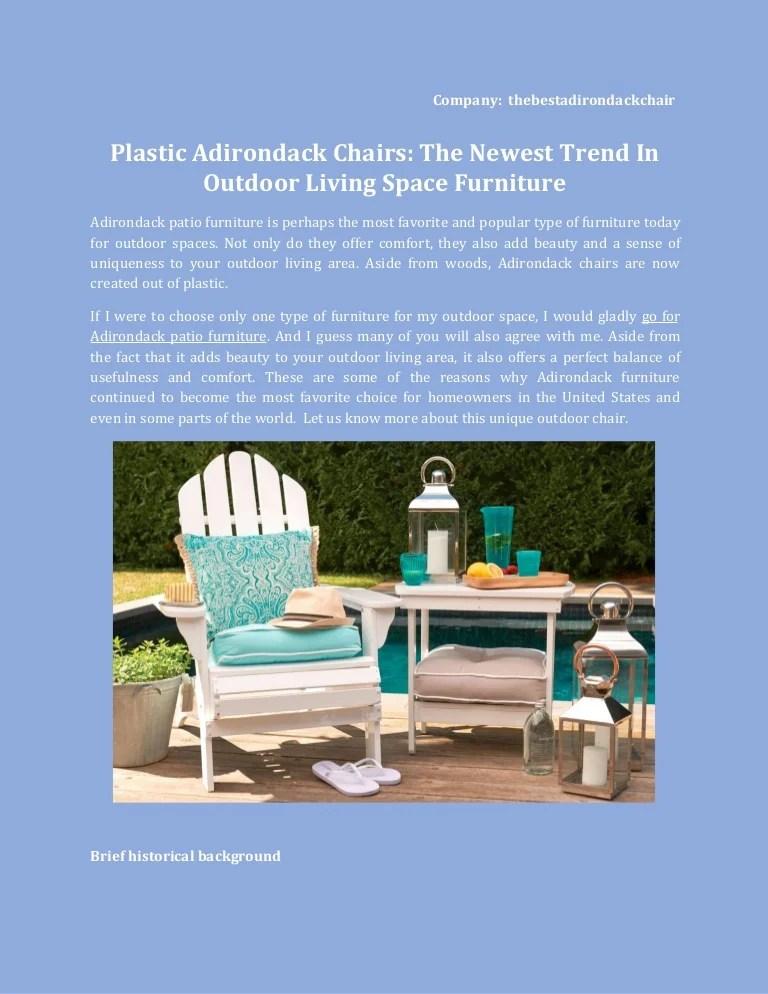 plastic adirondack chairs latest