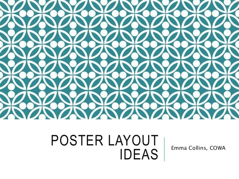 poster layout ideas