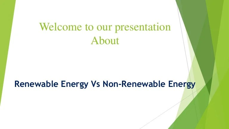 Non Renewable Alternative Energy Resources