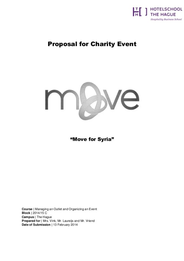 """Official Proposal for Cultural Dance Event """"Move for Syria"""""""
