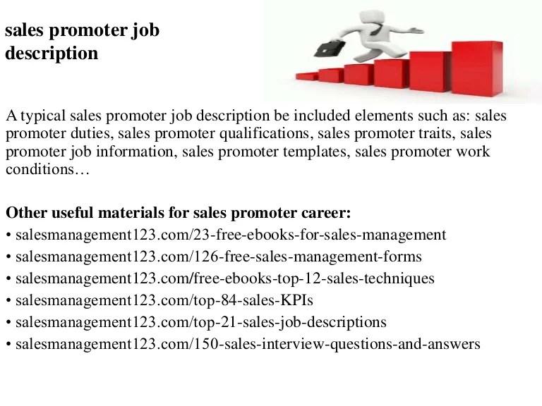 Sales Promoter Job Description