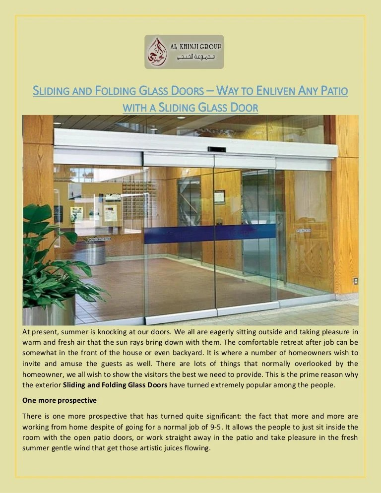 sliding and folding glass doors