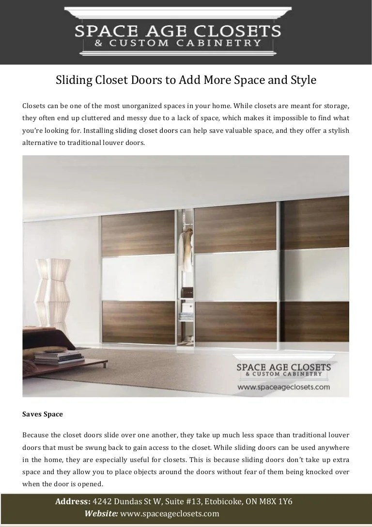 Sliding Closet Doors To Add More Space And Style