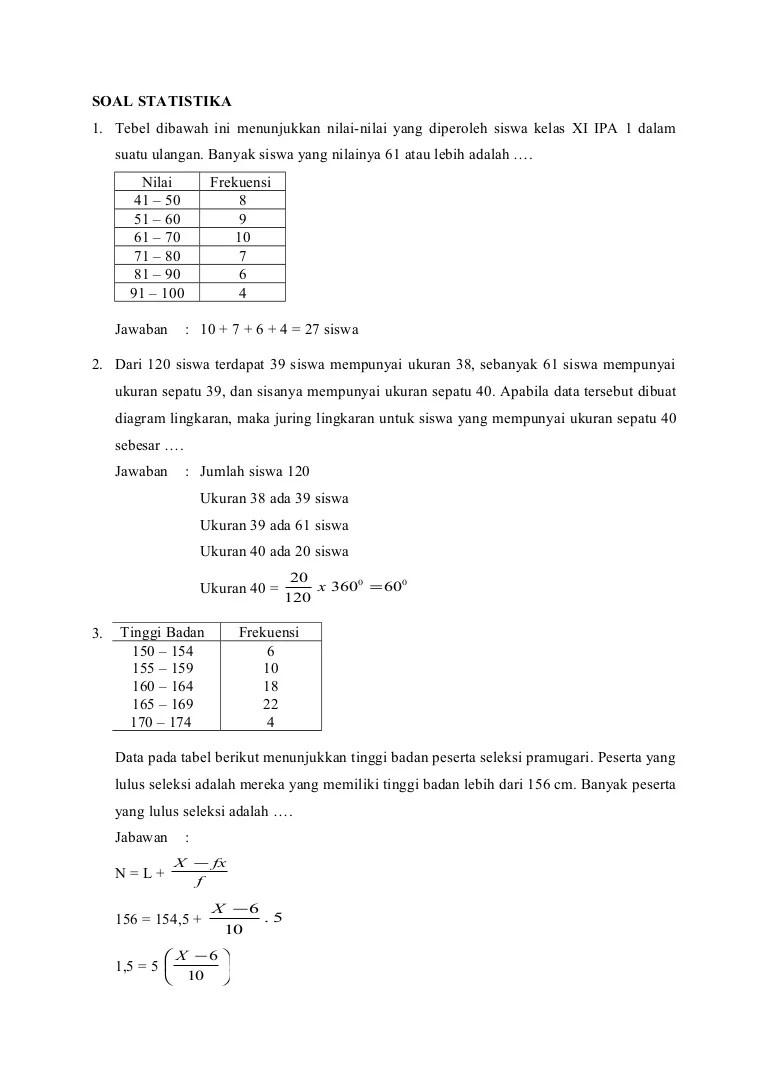 Statistika dasar/ tabel distribusi frekuensi data mentah tabel a nilai mid semester mata p… Soal Dan Pembahasan Statistika