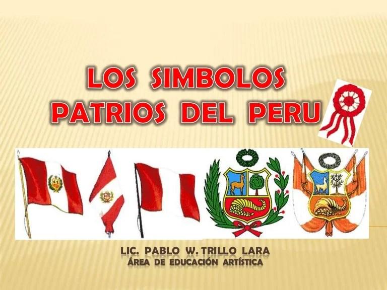 Nacional Escudo Peru El Bandera Himno Y La De El