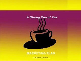 Tea marketing plan