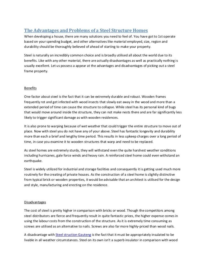 disadvantages of steel frame   Viewframes.org