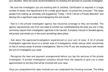 Free Resume 2018 » private investigator certification   Free Resume