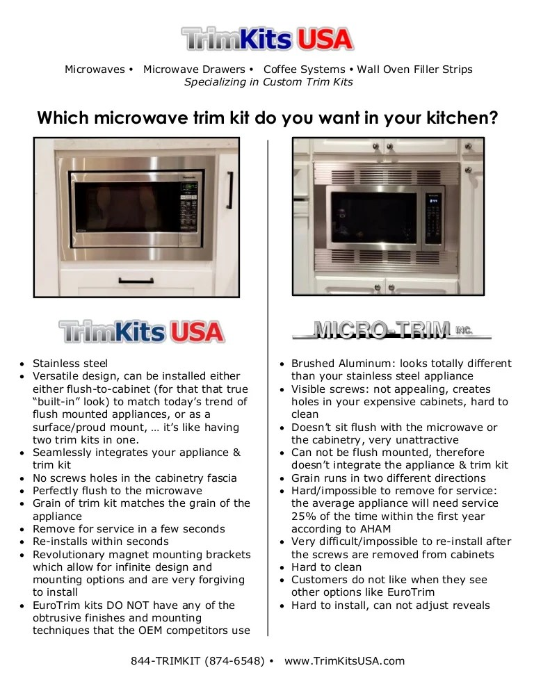 which microwave trim kit do you want in