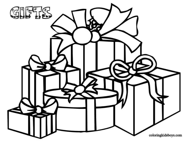 Xmas Colouring Pages