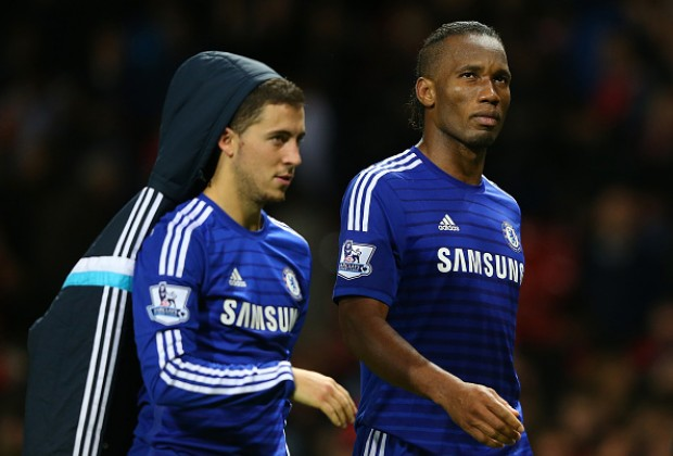 Image result for drogba and eden hazard