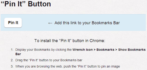 pin it button