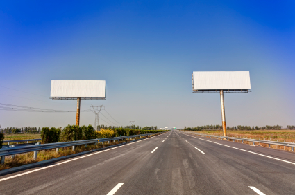 stock photo 22443209 asphalted highway with billboard
