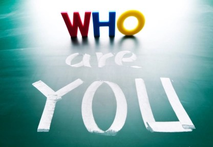 stock photo 19382773 who are you concept words on blackboard