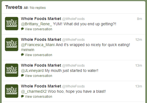 twitter whole foods responses