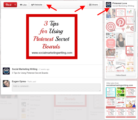 Pinterest expanded pin
