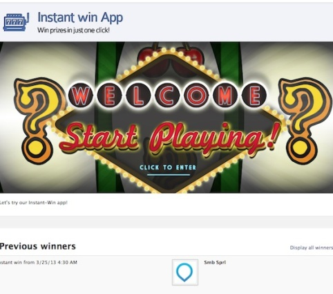 instant win contest example