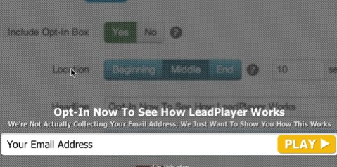 leadplayer email subscription call to action