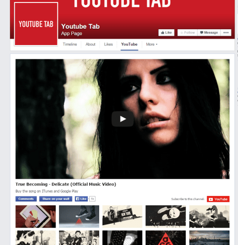 youtube facebook tab