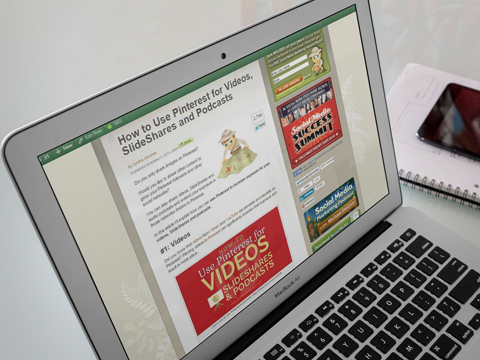 social media examiner video on pinterest article placeit image