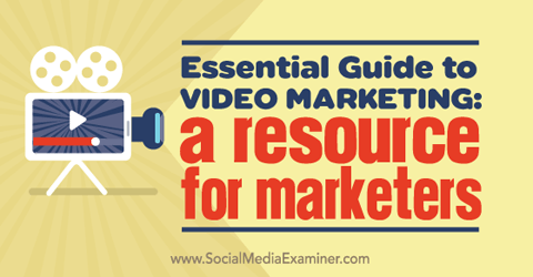 video marketing resource for marketers