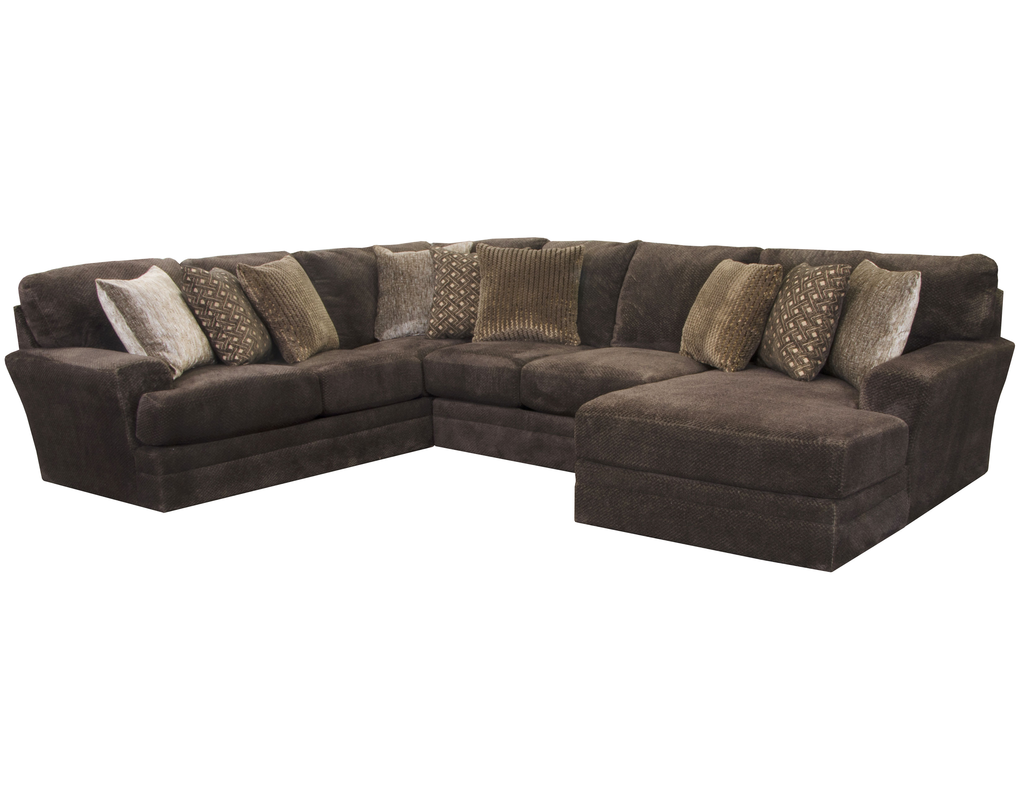 mammoth sectional in chocolate 15