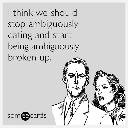 Ambiguity in dating