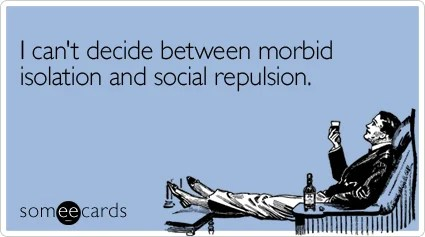 Funny New Year's Ecard: I can't decide between morbid isolation and social repulsion