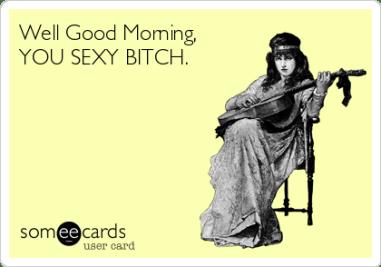 flirty good morning meme for her