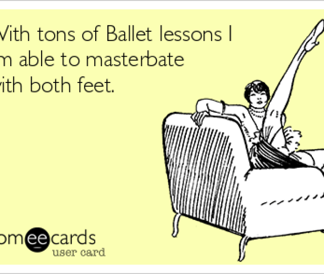With Tons Of Ballet Lessons I Am Able To Masterbate With Both Feet