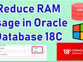 Reduce RAM usage in Oracle Database 18C