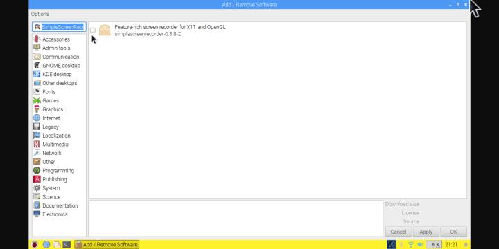 How to Record Desktop Screen of Raspberry Pi 3B Raspbian