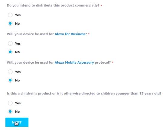 device registration amazon alexa