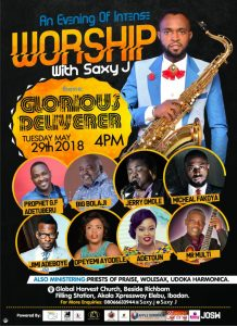 EVENT: Glorious Deliverer - An evening of Worship With Saxy J