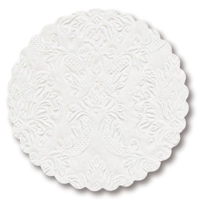 Moments Ornament Embossed Pearl White Coasters
