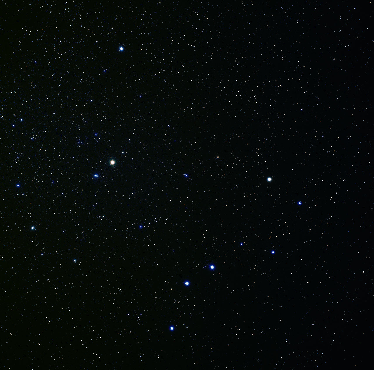 Wide Field Image Of Ursa Major And Ursa Minor Ground