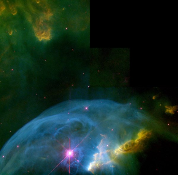 An expanding bubble in space | ESA/Hubble