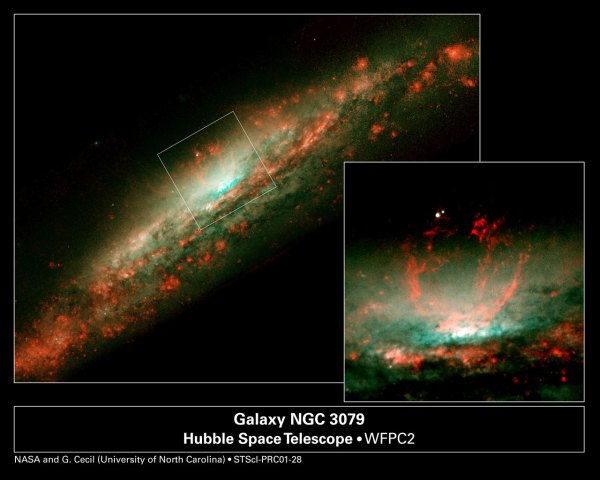 Baby Burp in Galaxys Core Overview ESAHubble