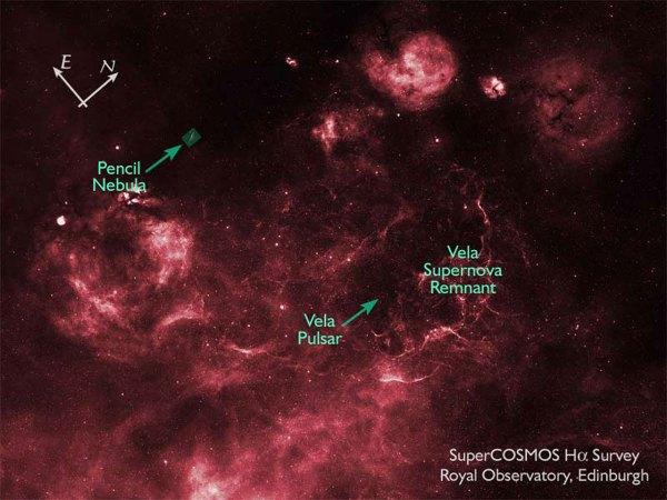SuperCOSMOS H-alpha Survey (SHS) Image of Vela Supernova ...