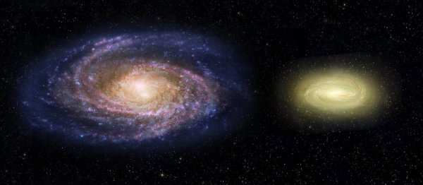 MACS2129-1 compared with the Milky Way (artist's ...