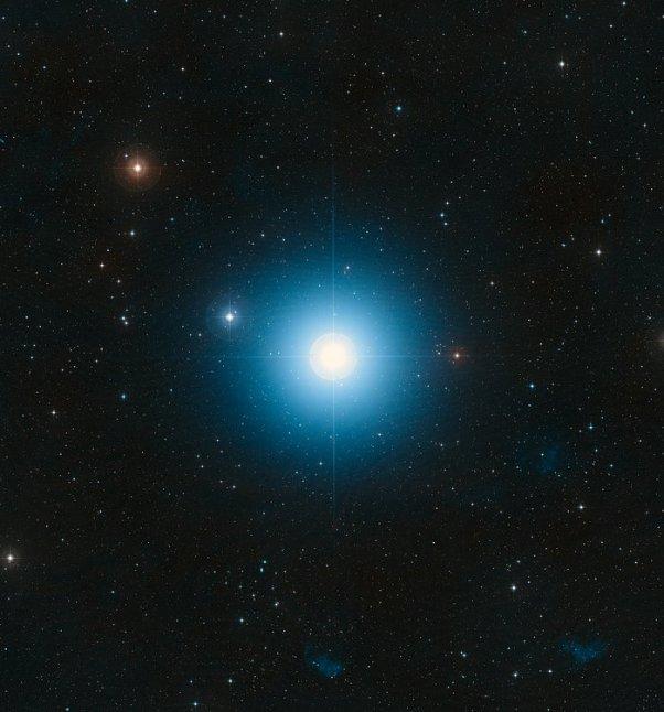 Fomalhaut'un DSS görüntüsü (yere dayalı görüntü)