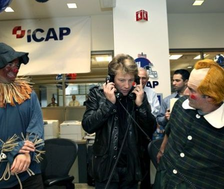 Jon Bon Jovi Helping Out on the Phones at ICAP