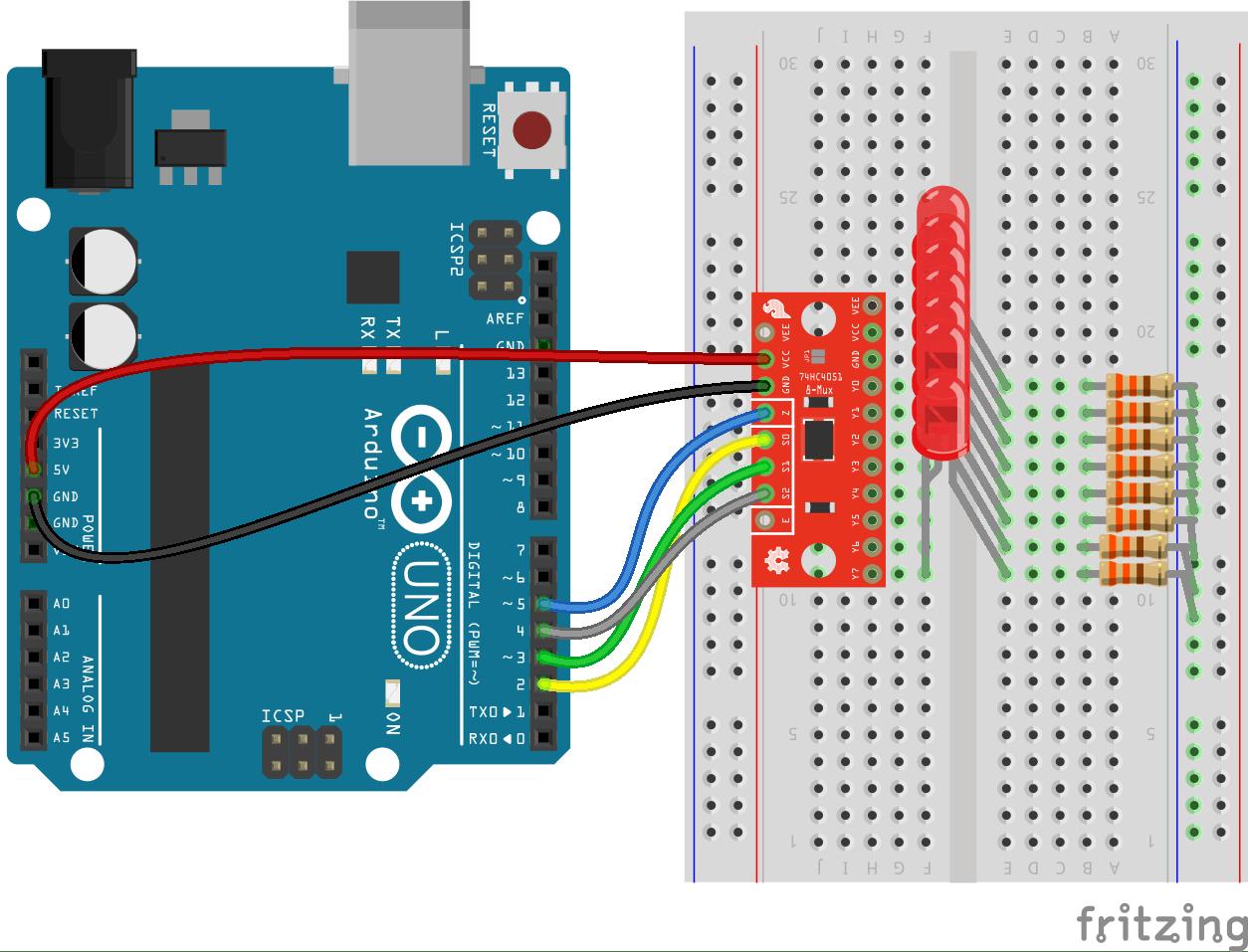Multiplexer Breakout Hookup Guide