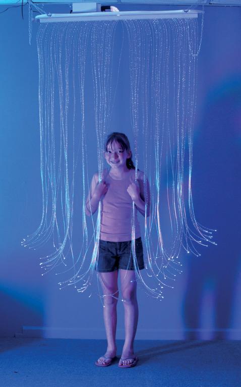 fiber optic curtain ceiling suspended
